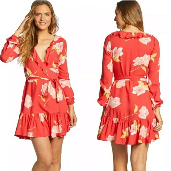 Billabong Dresses & Skirts - Billabong Floral Wrap Dress